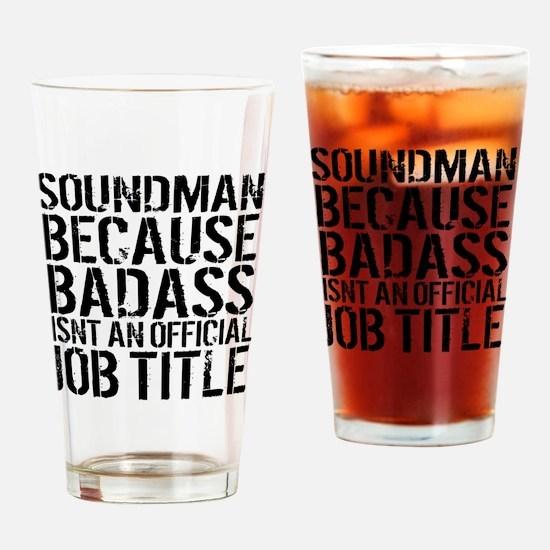 Funny Soundman Drinking Glass
