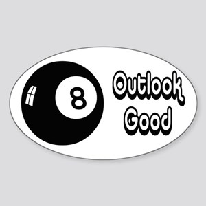Magic 8 Ball Outlook Good Sticker (Oval)