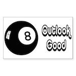 Magic 8 Ball Outlook Good Sticker (Rectangle)