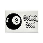 Magic 8 Ball Outlook Good Rectangle Magnet (10 pac