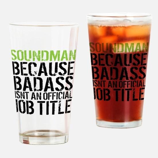 Cool Soundman Drinking Glass
