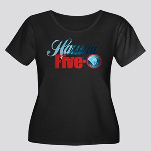 Hawaii Five O Retro Surf Plus Size T-Shirt