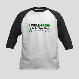 I Wear Green (Saved My Life) Kids Baseball Jersey