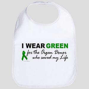 I Wear Green (Saved My Life) Bib