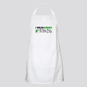 I Wear Green (Saved My Life) BBQ Apron