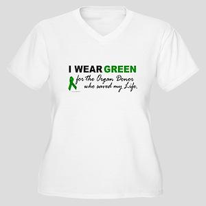 I Wear Green (Saved My Life) Women's Plus Size V-N