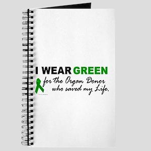 I Wear Green (Saved My Life) Journal