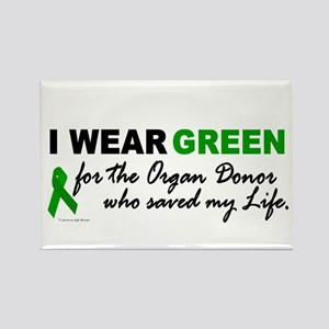 I Wear Green (Saved My Life) Rectangle Magnet