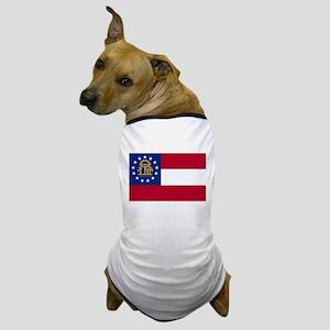 """Georgia State Flag"" Dog T-Shirt"