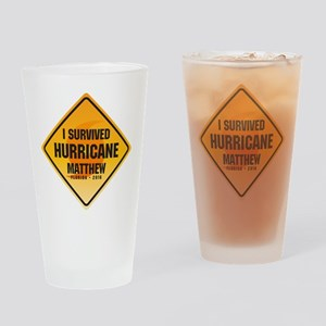 SurvivedMathew-FL Drinking Glass