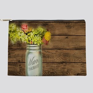 mason jar floral western country Makeup Bag