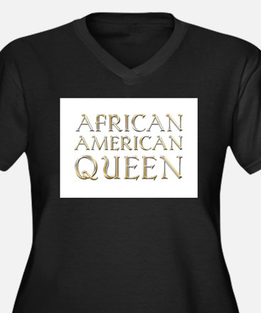 African American Queen Plus Size T-Shirt