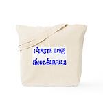 I Taste Like Snozberries Tote Bag