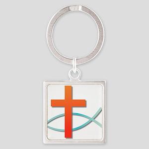 Christian cross fish Keychains