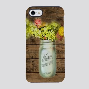 barnwood mason jar wildflowe iPhone 8/7 Tough Case