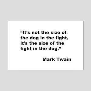 Mark Twain Dog Size Quote Mini Poster Print