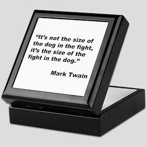Mark Twain Dog Size Quote Keepsake Box