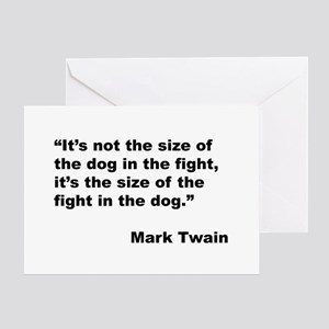 Mark twain greeting cards cafepress mark twain dog size quote greeting card m4hsunfo