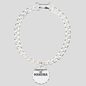 Property of MAKENA Charm Bracelet, One Charm