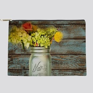 country mason jar flower Makeup Bag