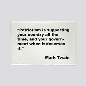 Mark Twain Quote on Patriotism Rectangle Magnet