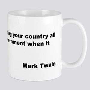 Mark Twain Quote on Patriotism Mug