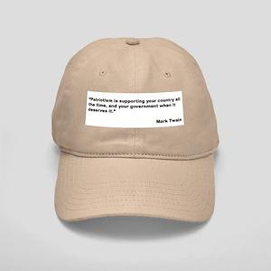 Mark Twain Quote on Patriotism Cap