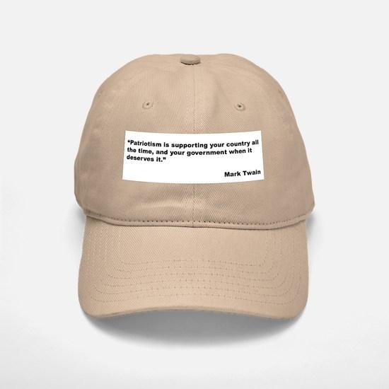 Mark Twain Quote on Patriotism Baseball Baseball Cap