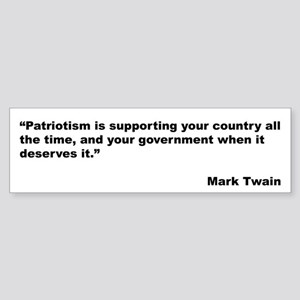 Mark Twain Quote on Patriotism Bumper Sticker