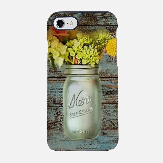 country mason jar flower iPhone 8/7 Tough Case