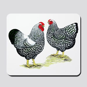 Wyandottes Silver-laced Pair Mousepad