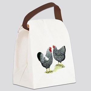 Wyandottes Silver-laced Pair Canvas Lunch Bag