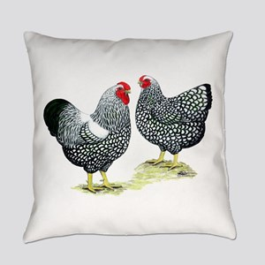 Wyandottes Silver-Laced Pair Everyday Pillow
