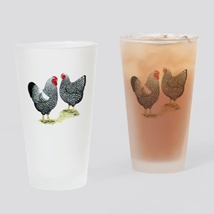 Wyandottes Silver-laced Pair Drinking Glass