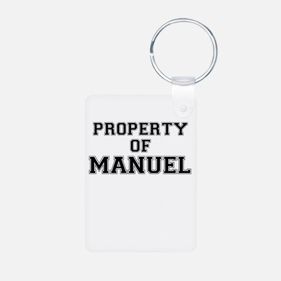 Property of MANUEL Keychains