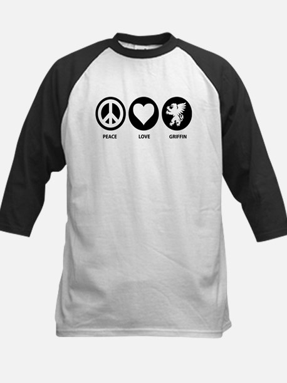 Peace Love Griffin Kids Baseball Jersey