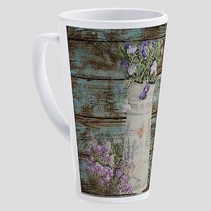 rustic lavender western country 17 oz Latte Mug