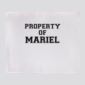 Property of MARIEL Throw Blanket