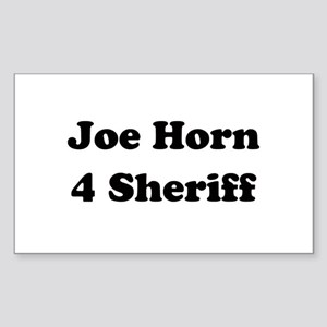 Joe Horn 4 Sheriff Rectangle Sticker