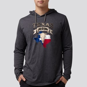 Bull Skull Born Texas Long Sleeve T-Shirt
