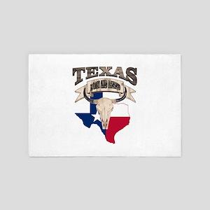 Bull Skull Born Texas 4' x 6' Rug