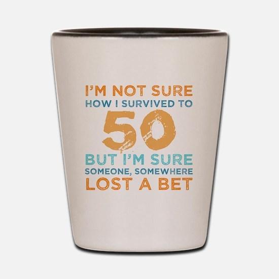 Funny Turning 50 Shot Glass
