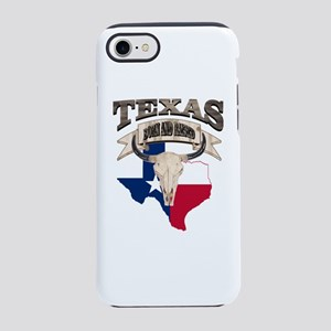Bull Skull Born Texas iPhone 8/7 Tough Case