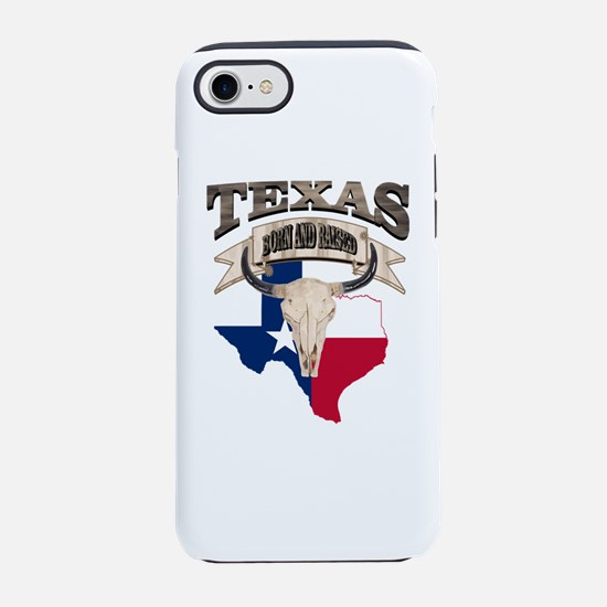 Bull Skull Born Texas iPhone 8/7 Tough Case