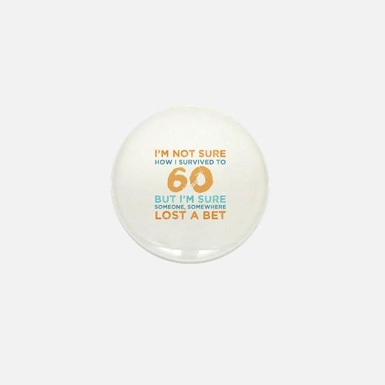 Cute Turning 60 Mini Button