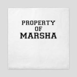 Property of MARSHA Queen Duvet