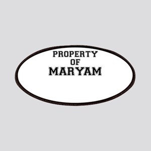 Property of MARYAM Patch