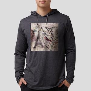 butterfly vintage robin paris Long Sleeve T-Shirt