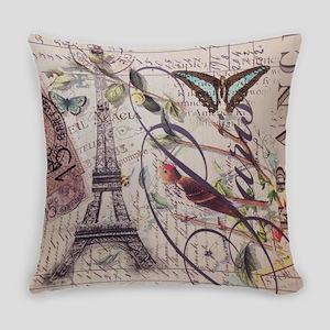 french botanical vintage paris Everyday Pillow
