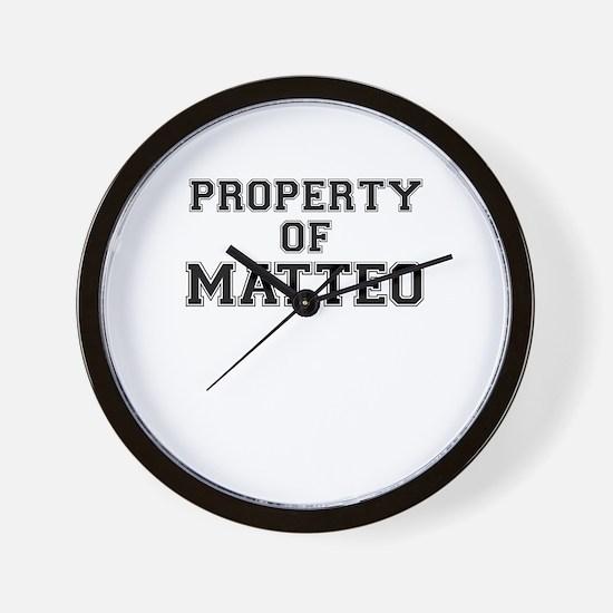 Property of MATTEO Wall Clock